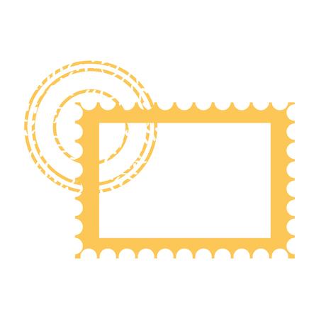 blank postage stamp on white background vector illustration Banco de Imagens - 127560983