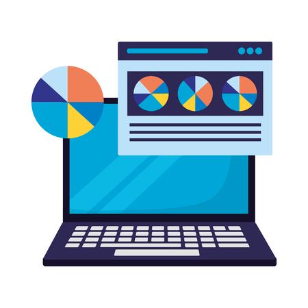 computer website report search engine optimization vector illustration Иллюстрация
