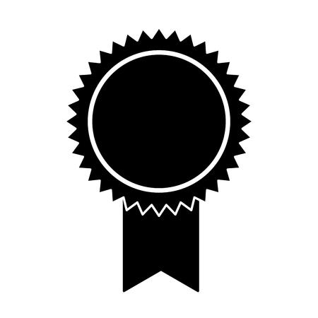 Médaille rosette sur fond blanc vector illustration