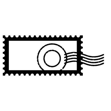 Sello postal en blanco sobre fondo blanco ilustración vectorial