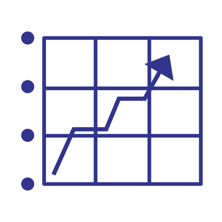 statistics arrow growth on white background vector illustration 矢量图像