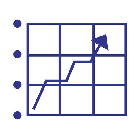 statistics arrow growth on white background vector illustration Illustration
