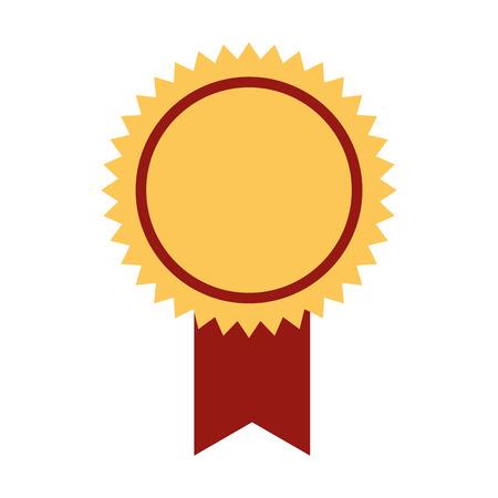 rosette medal on white background vector illustration