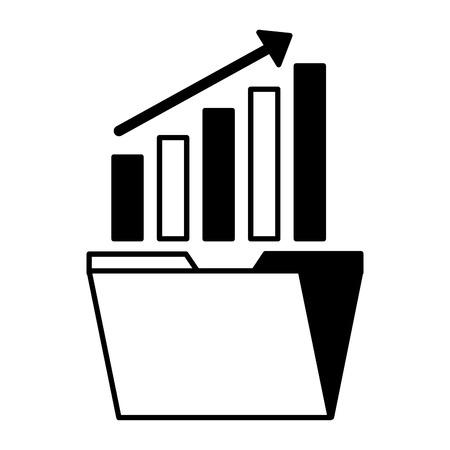 folder statistics arrow search engine optimization vector illustration vector illustration Illustration
