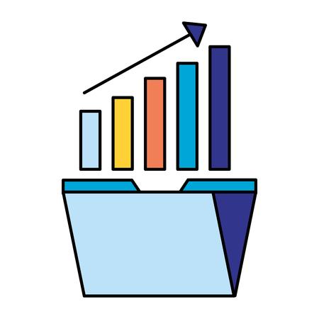 folder statistics arrow search engine optimization vector illustration Illustration
