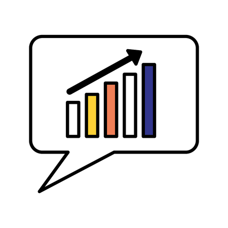 speech bubble chart financial search engine optimization vector illustration