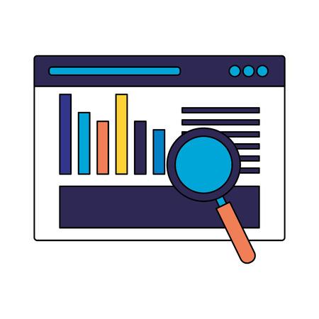 website analysis information search engine optimization vector illustration