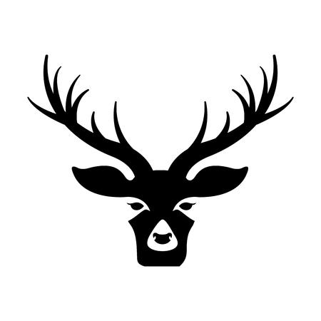 deer head on white background vector illustration