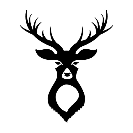 deer head on white background vector illustration 版權商用圖片 - 127561240