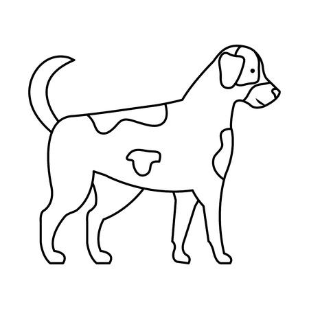 cute dog mascot icon vector illustration design Zdjęcie Seryjne - 112335232