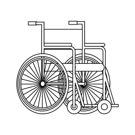 medical wheelchair isolated icon vector illustration design