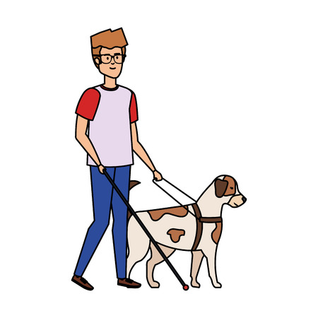blind man character icon vector illustration design Archivio Fotografico - 127564236