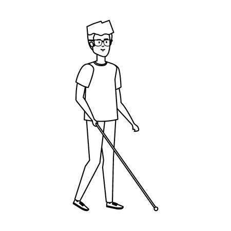 blind man character icon vector illustration design Archivio Fotografico - 127564242