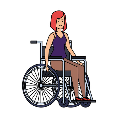 woman in wheelchair character vector illustration design Illustration