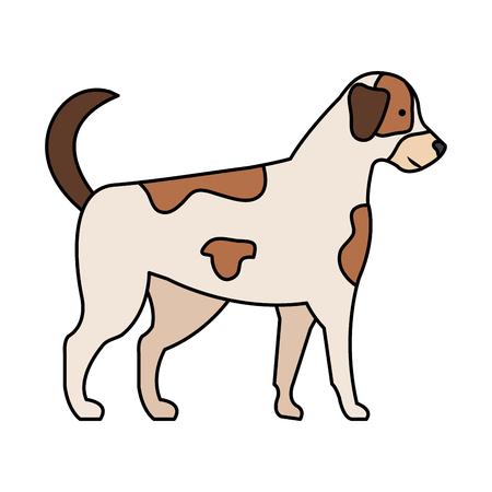 Diseño lindo del ejemplo del vector del icono de la mascota del perro