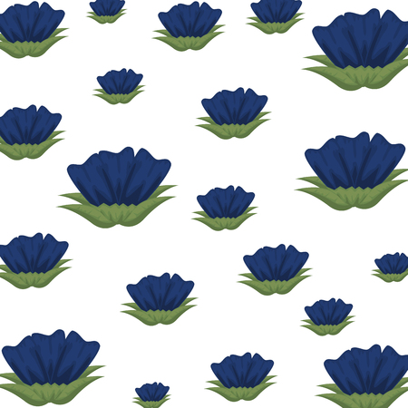 flowers and leafs decorative pattern vector illustration design