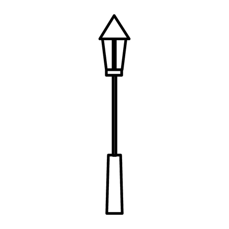 park lamp isolated icon vector illustration design Çizim