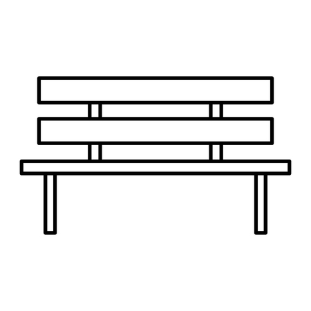 park chair wooden icon vector illustration design
