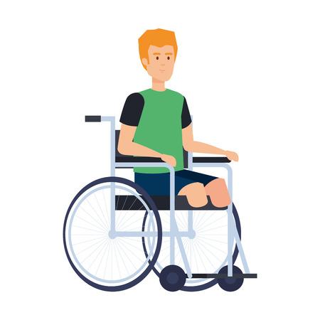 man in wheelchair character vector illustration design Illustration