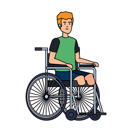 man in wheelchair character vector illustration design Illusztráció