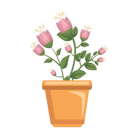 flowers houseplant in pot icon vector illustration design Stockfoto - 127564474