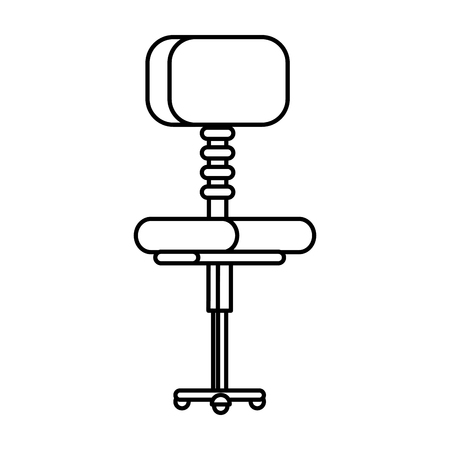 office chair isolated icon vector illustration design