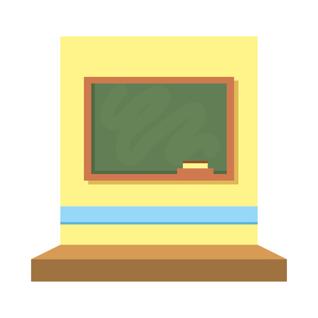 classroom with chalkboard scene vector illustration design
