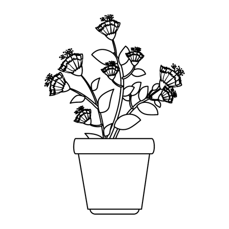 flowers houseplant in pot icon vector illustration design Stockfoto - 127564602