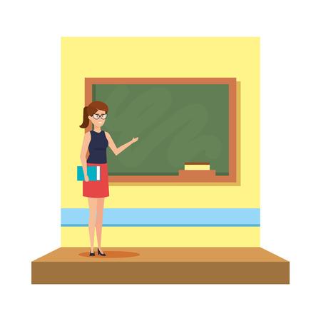 female teacher in the classroom vector illustration design  イラスト・ベクター素材