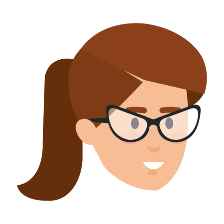 beautiful woman head avatar character vector illustration design 矢量图像