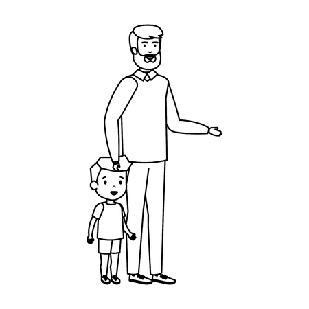 father with son characters vector illustration design 스톡 콘텐츠 - 127564716