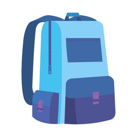 schoolbag study isolated icon vector illustration design