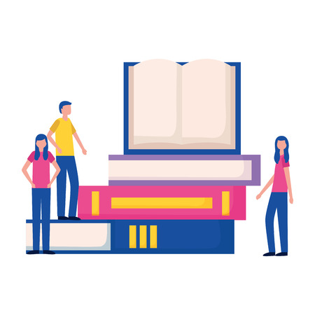 people books education supplies school vector illustration
