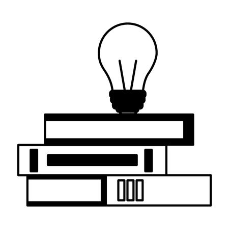 books and creativity bulb education supplies school vector illustration