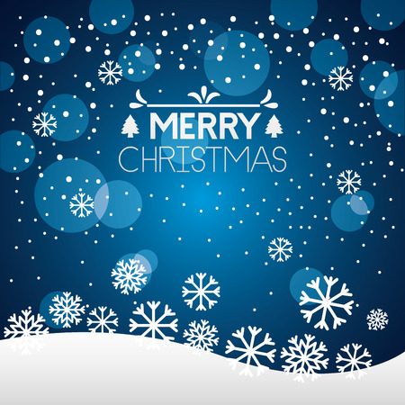 merry christmas bubbles snowflakes winter background vector illustration 向量圖像