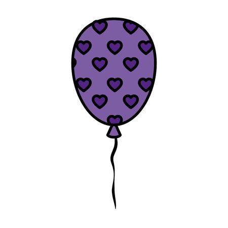 party balloon celebration icon vector illustration design Illustration
