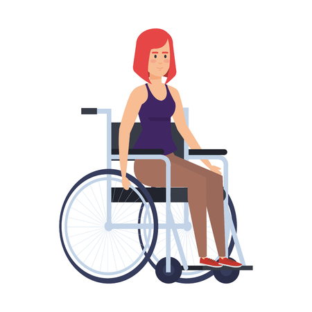 woman in wheelchair character vector illustration design 일러스트