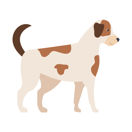 cute dog mascot icon vector illustration design