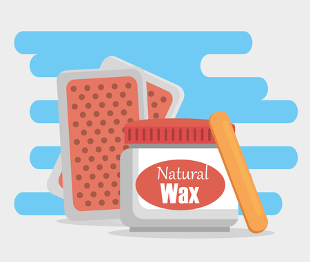 hair removal set products vector illustration design