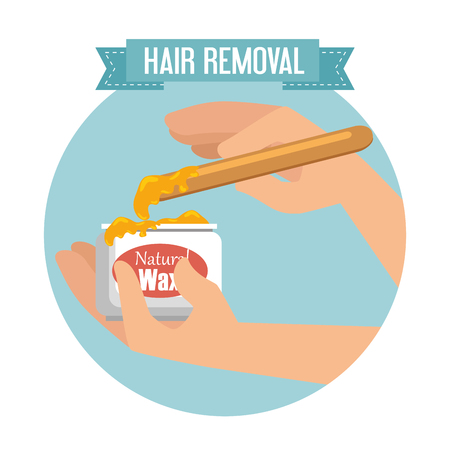 hands using hair removal product vector illustration design Imagens - 127475708