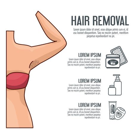 woman armpit with hair removal icons vector illustration design Иллюстрация
