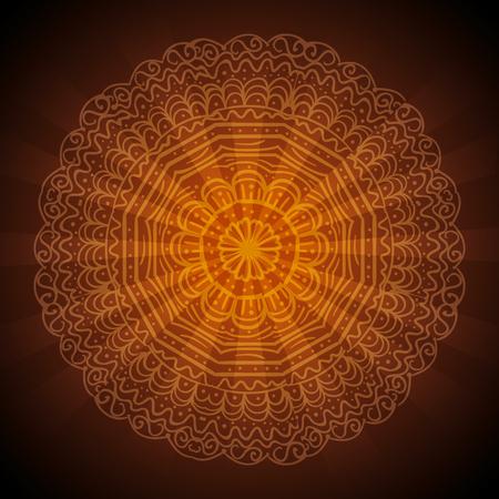 happy diwali festival of lights with mandala vector illustration design Stock Vector - 112451429