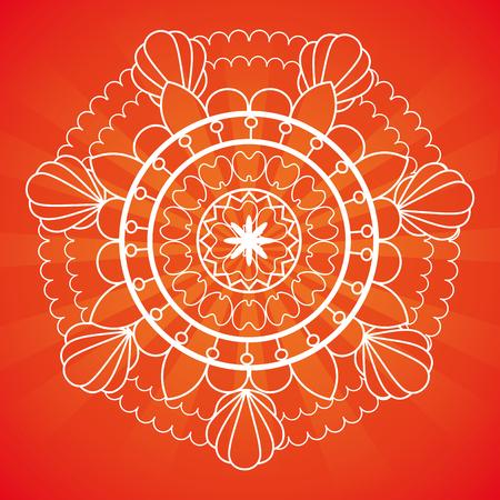 happy diwali festival of lights with mandala vector illustration design Stock Vector - 112451435