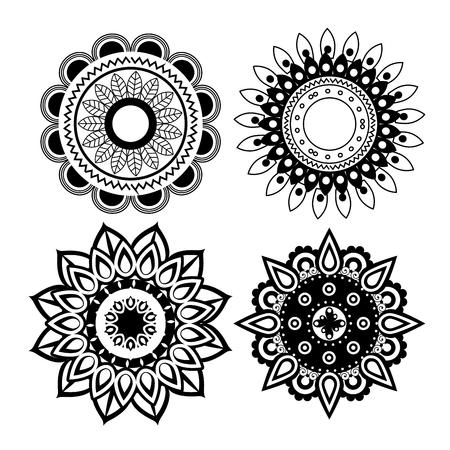 happy diwali festival of lights with mandala vector illustration design Stock Vector - 112450191