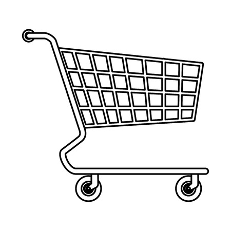 supermarket shopping cart icon vector illustration design Illustration