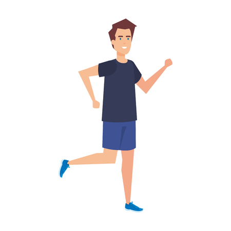 athletic man running character vector illustration design 向量圖像
