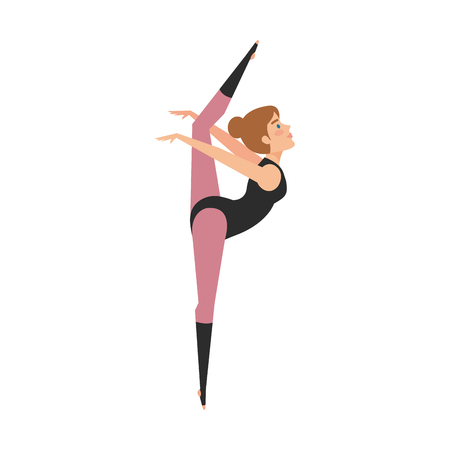 woman practicing exercice character vector illustration design