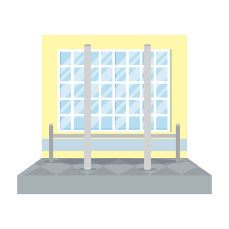 pole dance training place vector illustration design 向量圖像
