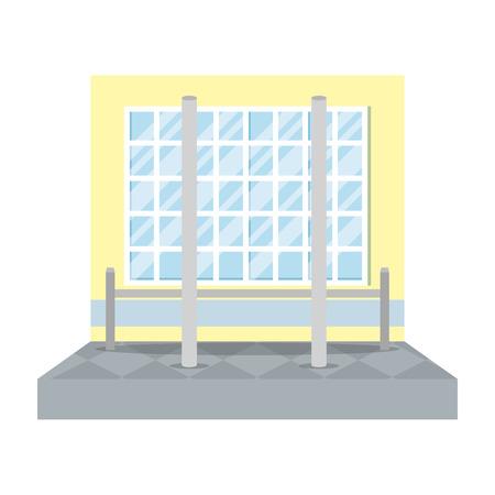 pole dance training place vector illustration design Illustration