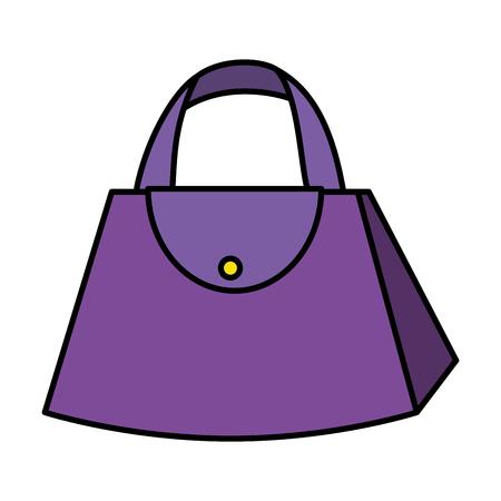 fashion feminine handbag icon vector illustration design Vektorové ilustrace